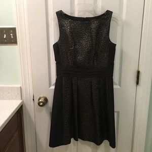 The Limited black and gold dress